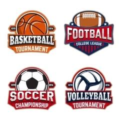 Set basketball football soccer volleyball vector