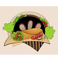 shawarma vector image
