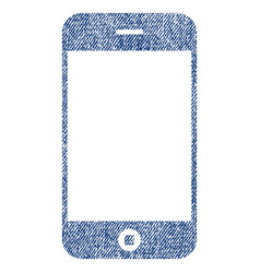 Smartphone fabric textured icon vector