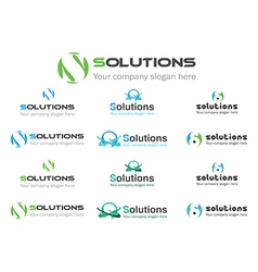 Solution business logos vector