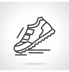 Sports footwear black line icon vector