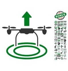 Start Drone Icon With Bonus vector image