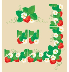 strawberry frame 1 380 vector image