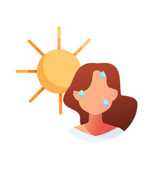 summer heat sunstroke vector image