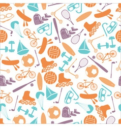 summer sports and equipment color pattern eps10 vector image