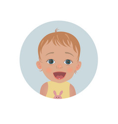 surprised baby emoticon astonished child smiley vector image