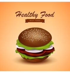 Tasty Juicy Burger Fastfood vector