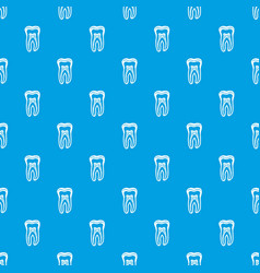 Tooth structure pattern seamless blue vector