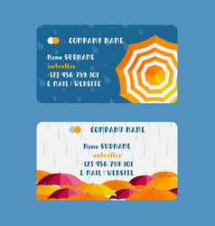 Umbrella company business card design vector