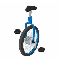 Unicycle one wheel bicycle cartoon vector image