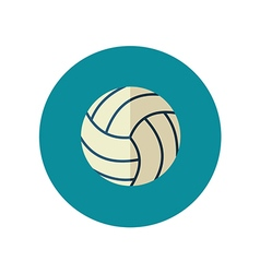 Volleyball flat icon Summer Vacation vector