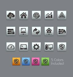 Web developer icons - satinbox series vector