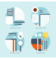 Workplace Office Daily vector