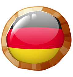 badge design for germany flag vector image