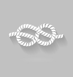 Black and White Rope Eight Knot Graphic Design vector image