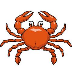 cartoon doodle crab vector image vector image