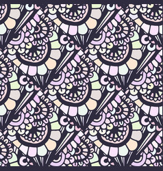 doodle seamless pattern in creative floral vector image vector image