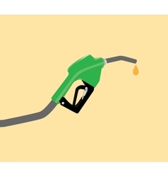 fuel pump with drop gasoline with yellow vector image vector image