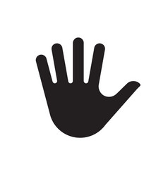 hand palm silhouette icon vector image vector image