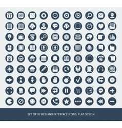 Set of 90 web and mobile icons for business vector image vector image