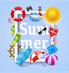 summer cover design elements vector image