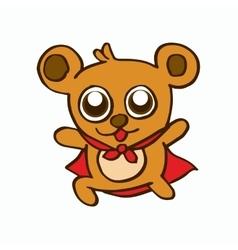 Super bear design for kids vector