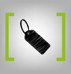 tag sign black scribble icon vector image vector image