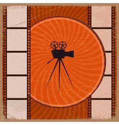Vintage orange background vector image