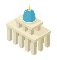 white house icon isometric 3d style vector image
