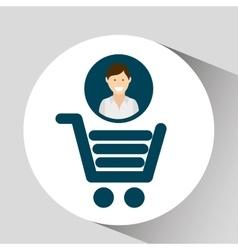character shop cart social media concept vector image