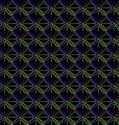 Geometric pattern of blue stars vector image