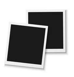 Photo frame mockup isolated vector