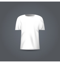 Blank t-shirt template white t-shirt vector image
