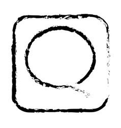 Contour sumbol chat bubble icon vector