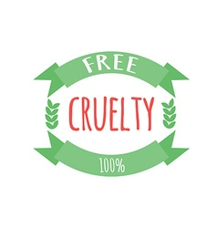 Cryelty free label or logo vector image