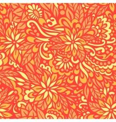 Golden Autumn Seamless decorative pattern vector image vector image