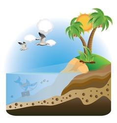 Treasure island2 vector