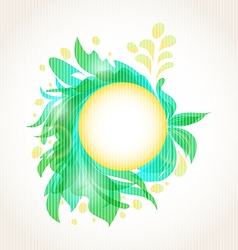 Abstract floral transparent frame vector image vector image
