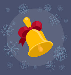 christmas bell flat vector image