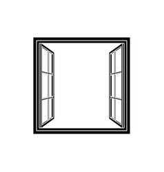 open window frame icon vector image vector image