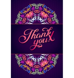 Thank you card in bright colors vector image vector image