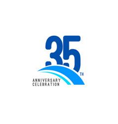 35 year anniversary celebration template design vector image