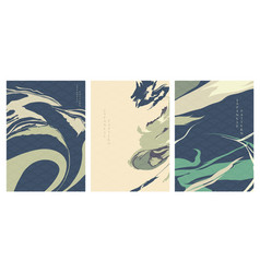 Abstract background in oriental style geometric vector