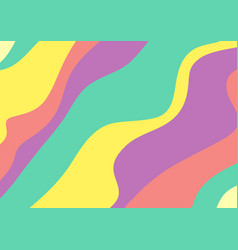 Abstract colourful pastel waves minimal background vector