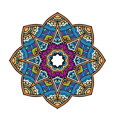 Acid color ethnic mexican peru tribal mandala pr vector