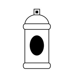 Aerosol can blank label icon image vector