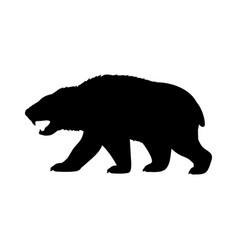 amphicyonidae bear dogs silhouette extinct mammal vector image