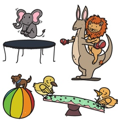 animal playground vector image