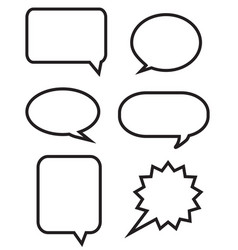 big speech bubbles set vector image