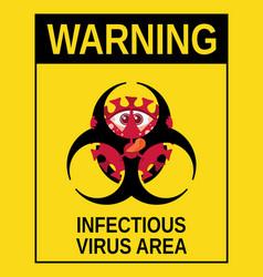 biohazard symbol occupied dangerous vector image